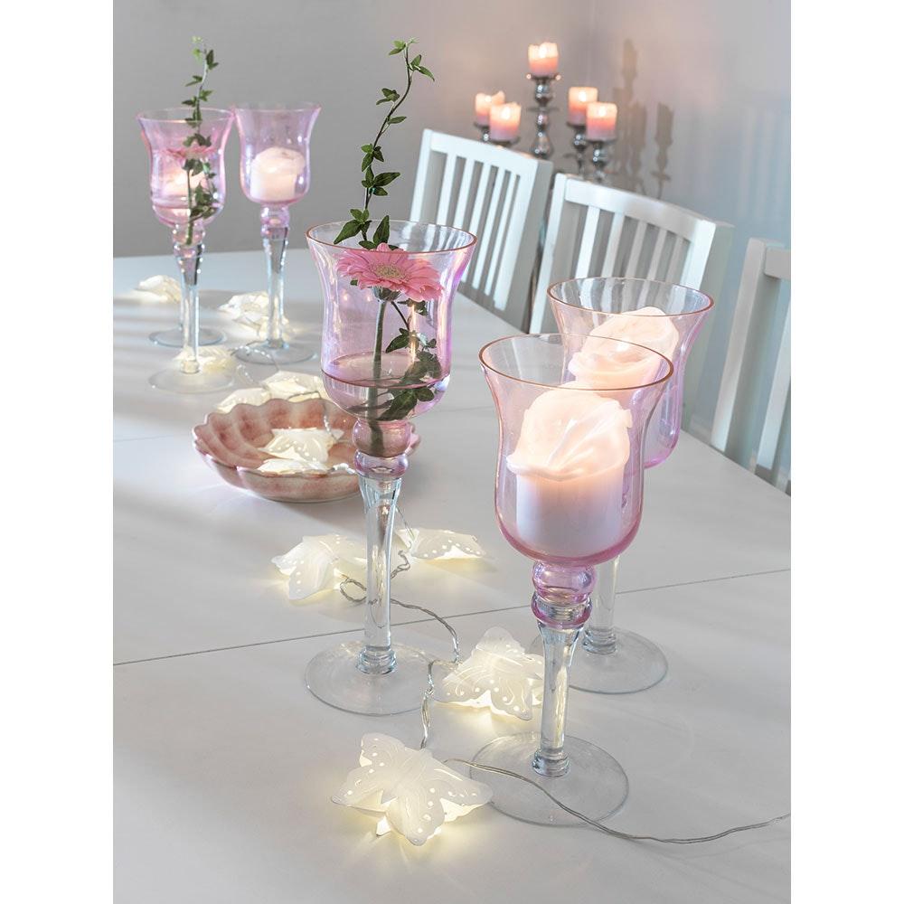 LED Dekolichterkette weiße Papierschmetterlinge 12 Warmweiße Dioden 1