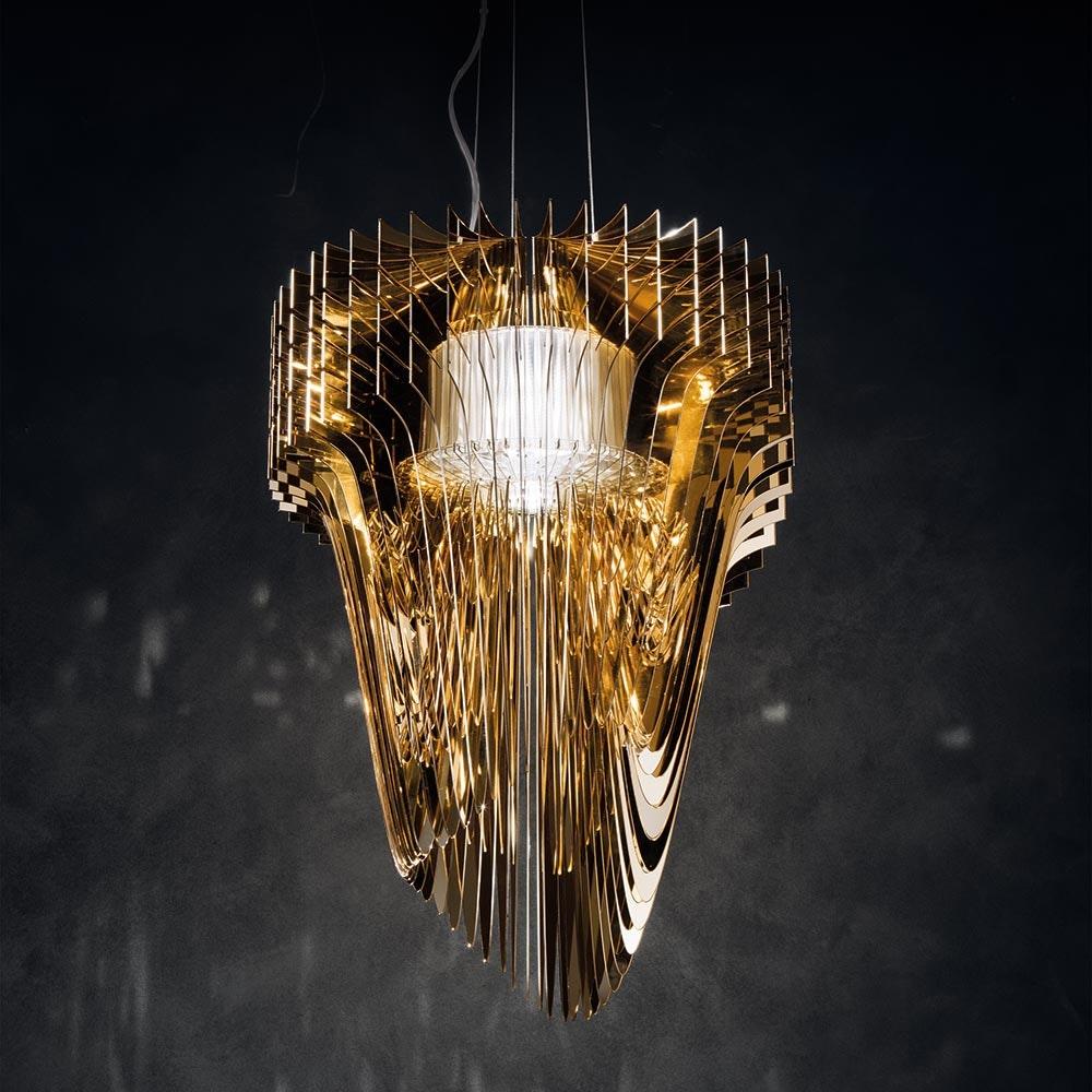 Slamp LED Hängelampe Aria Medium 3500lm 2700K Gold 3