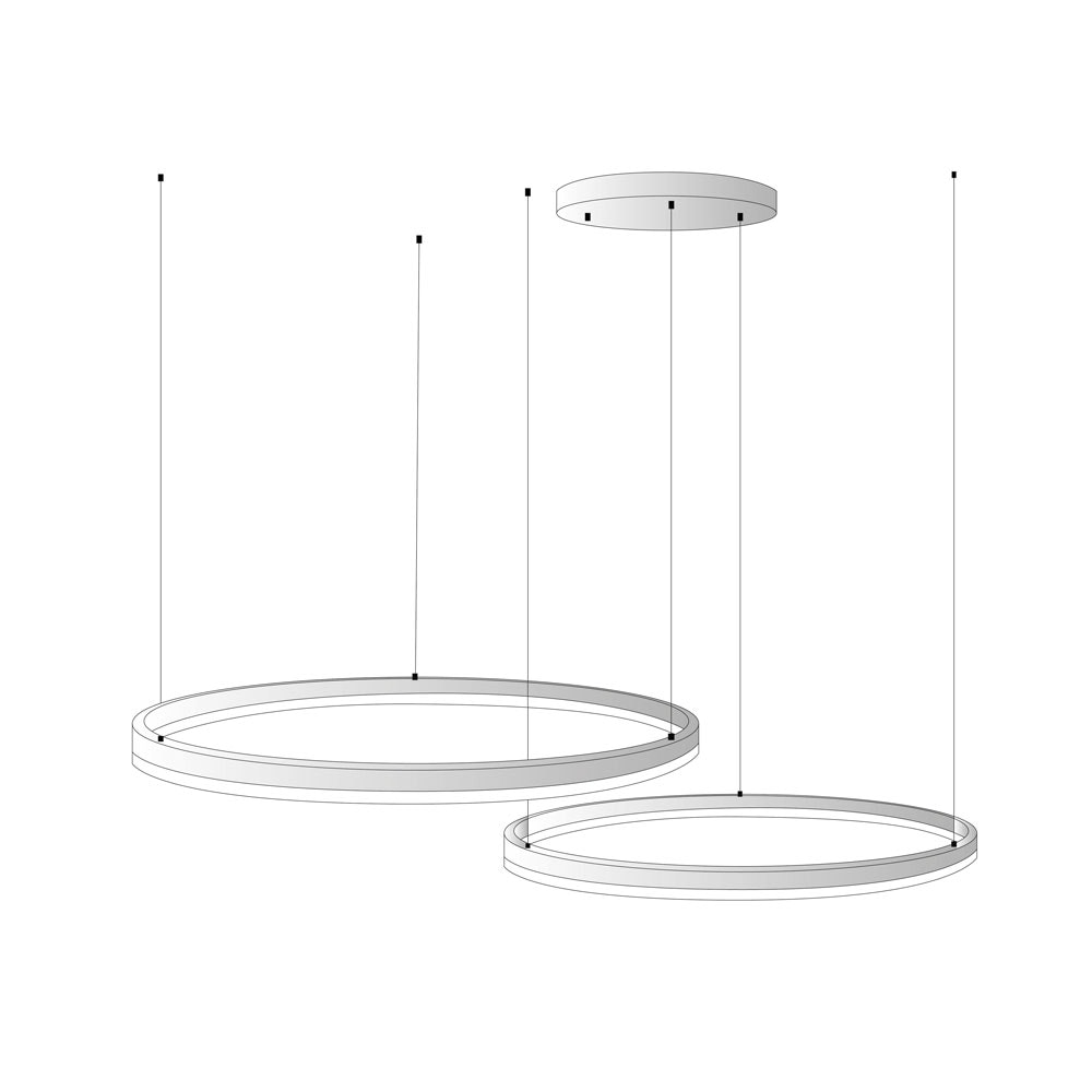 s.LUCE Ring Umbau zentrisch / exzentrisch (ohne LED-Ringe) 19