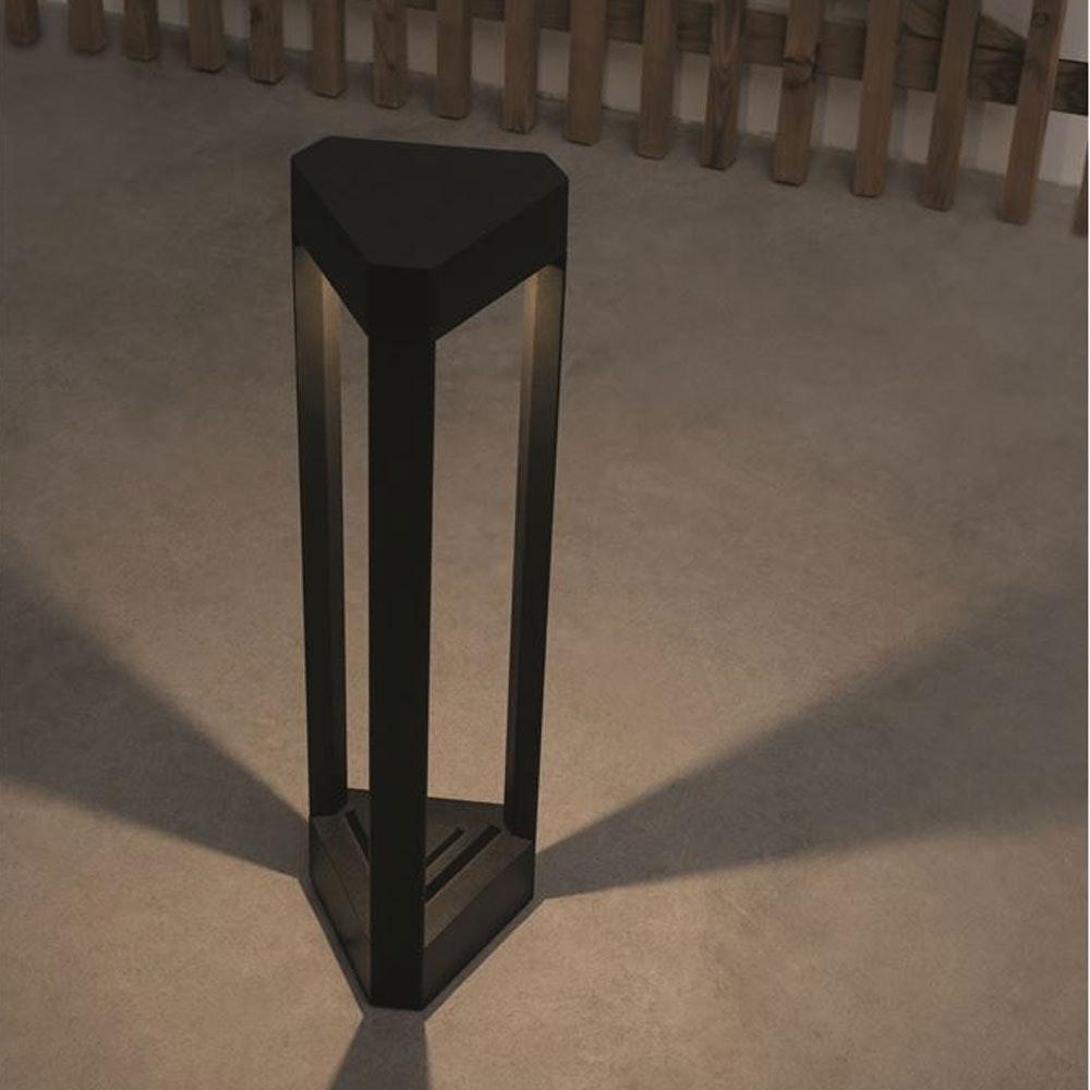 Nova Luce Pax Pollerleuchte Dreieck LED Schwarz thumbnail 6