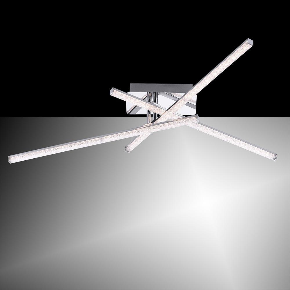 Simon LED Acryl Deckenlampe 3x 5W 3000K Chrom 1