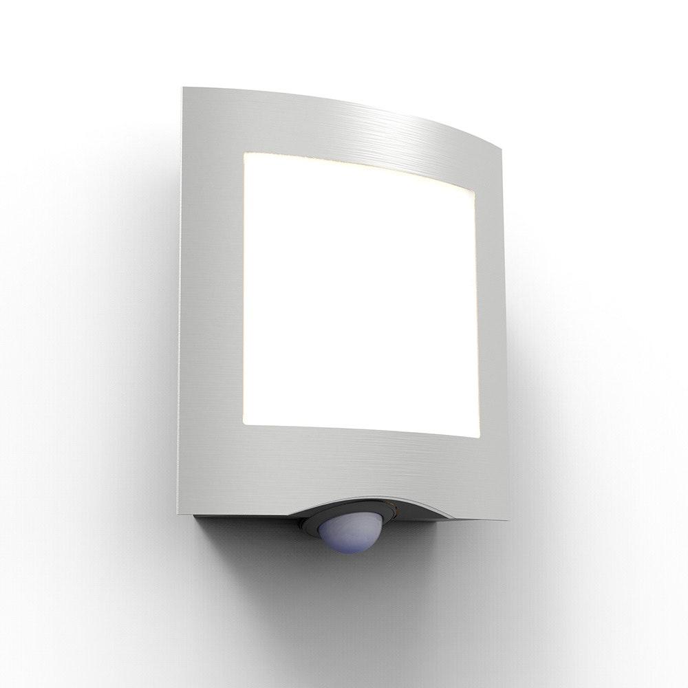 LED Außenleuchte Farell mit Sensor IP44 Edelstahl 1