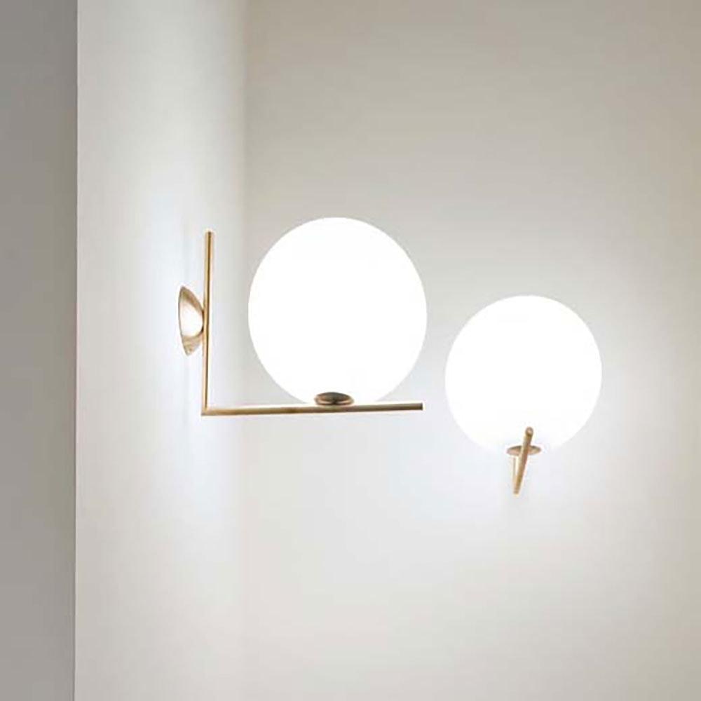 FLOS IC C/W2 Wandlampe mit Glaskugel 30cm 4