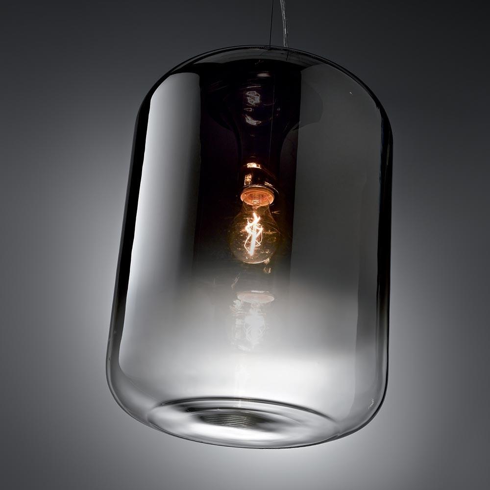 Ken Pendelleuchte verspiegelter Glaszylinder 50cm 1