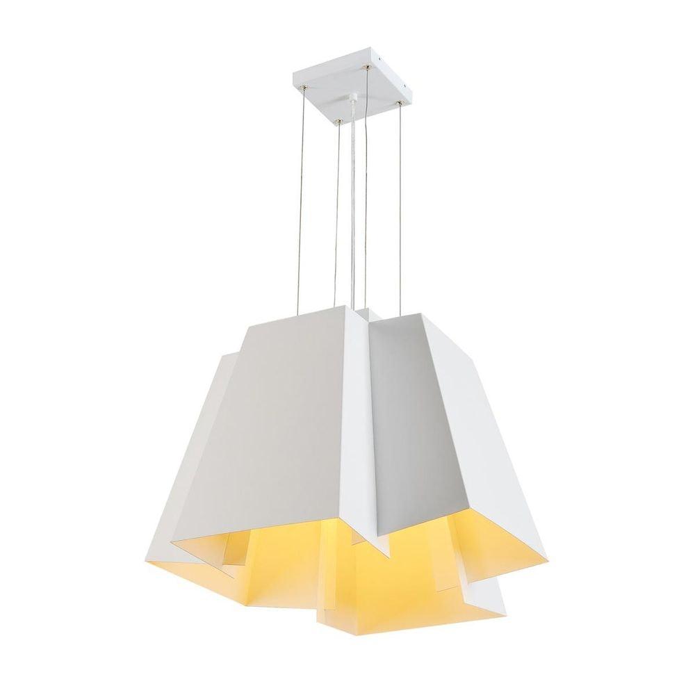 SLV SOBERBIA LED Pendelleuchte 60 eckig Weiß 60 SMD LED 20W 3000K 1
