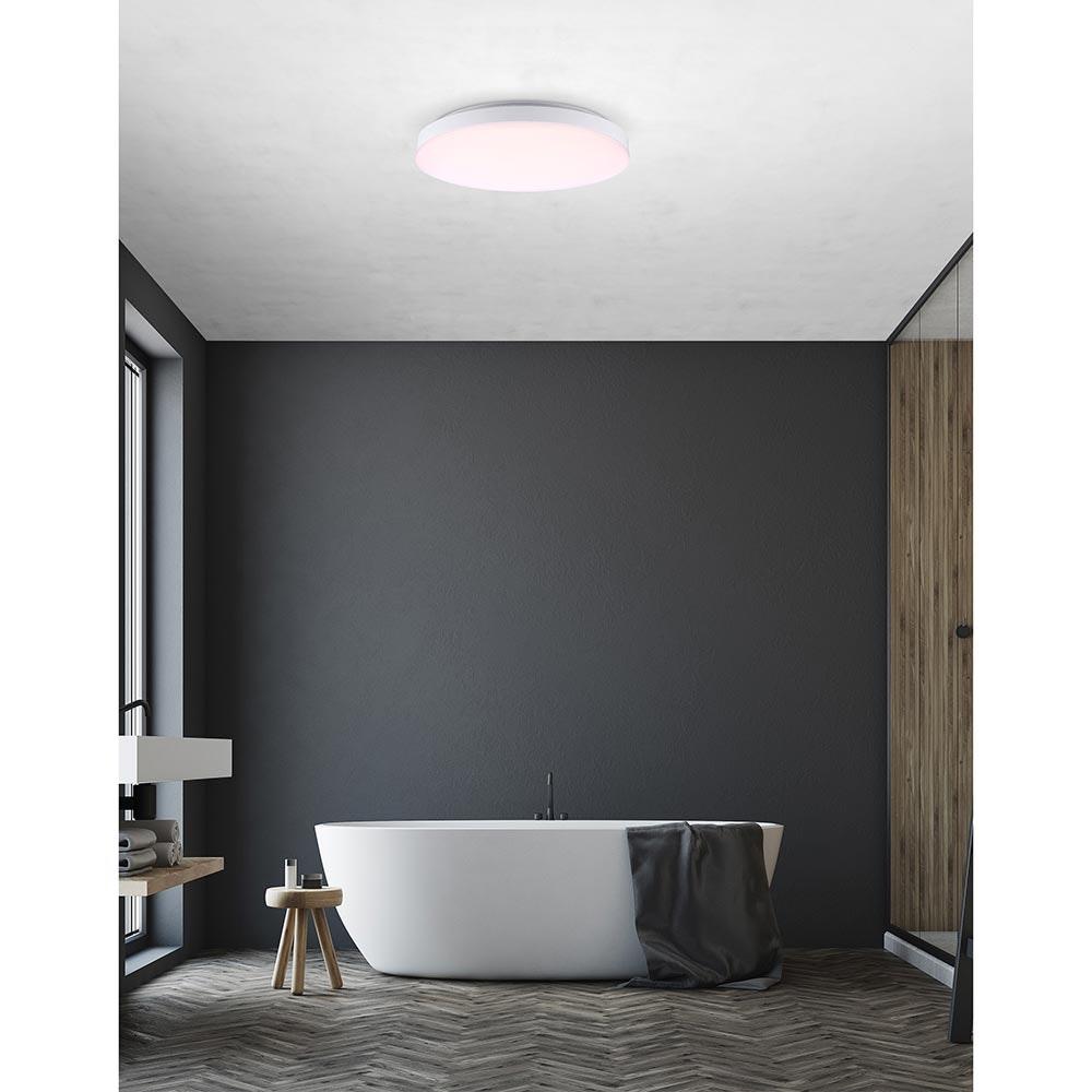 Licht-Trend LED Deckenleuchte Relge IP44 Ø 24cm Weiß