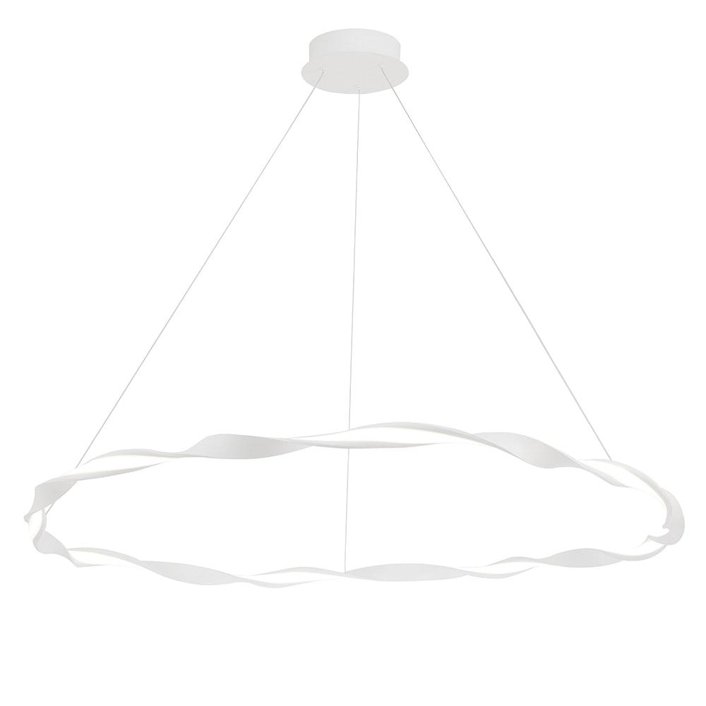 Mantra Madagascar LED-Pendelleuchte Weiß Rund 6