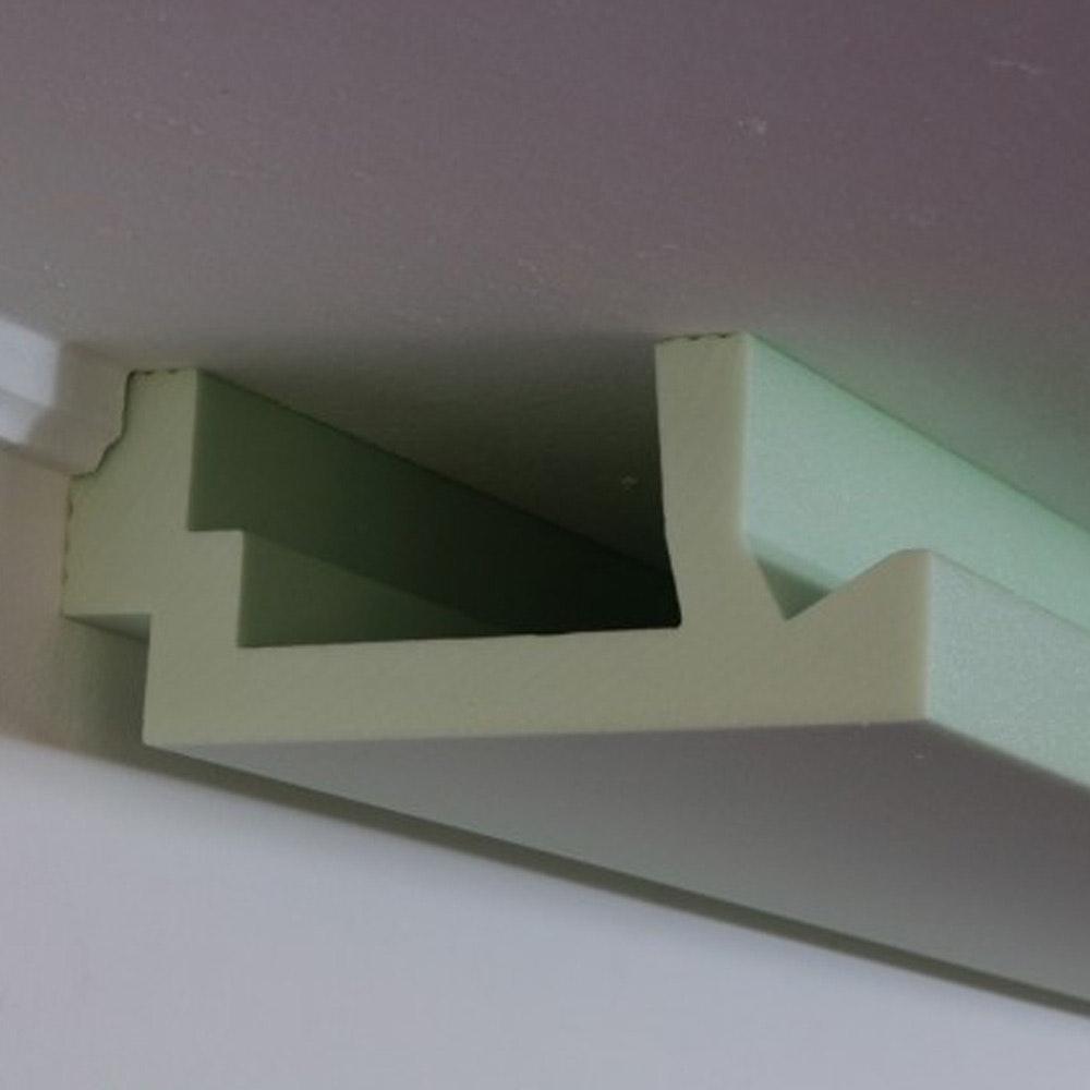 MUSTERSTÜCK 20cm für Dekor-Profil L Stuckleiste indirekt Wand oder Decke