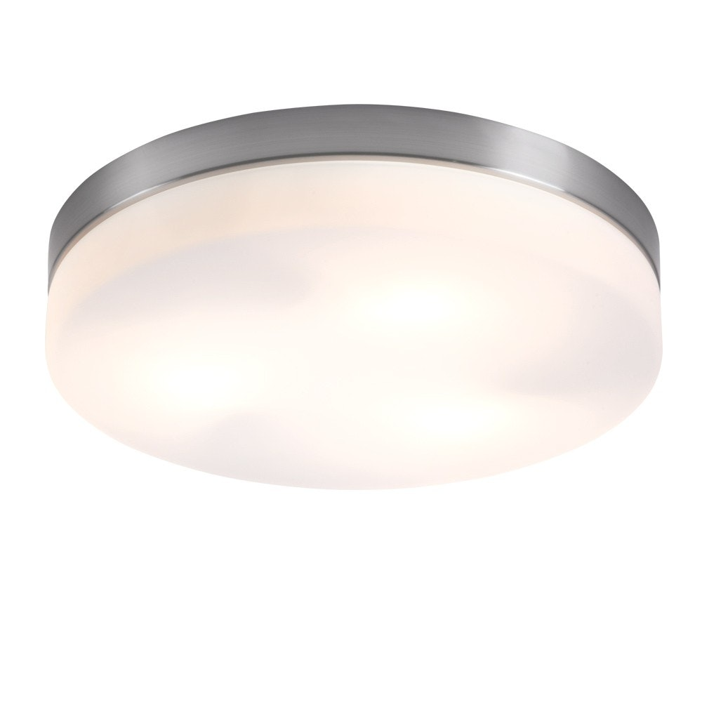 Opal Deckenleuchte Nickel-Matt Glas opal 3x40W E27 2