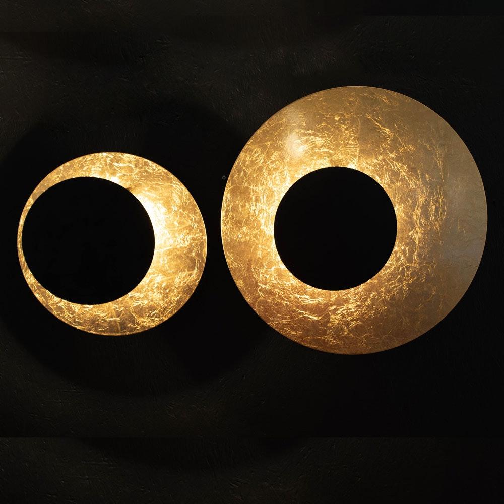 s.LUCE LED Wand- und Deckenlampe Plate Blattgold 11