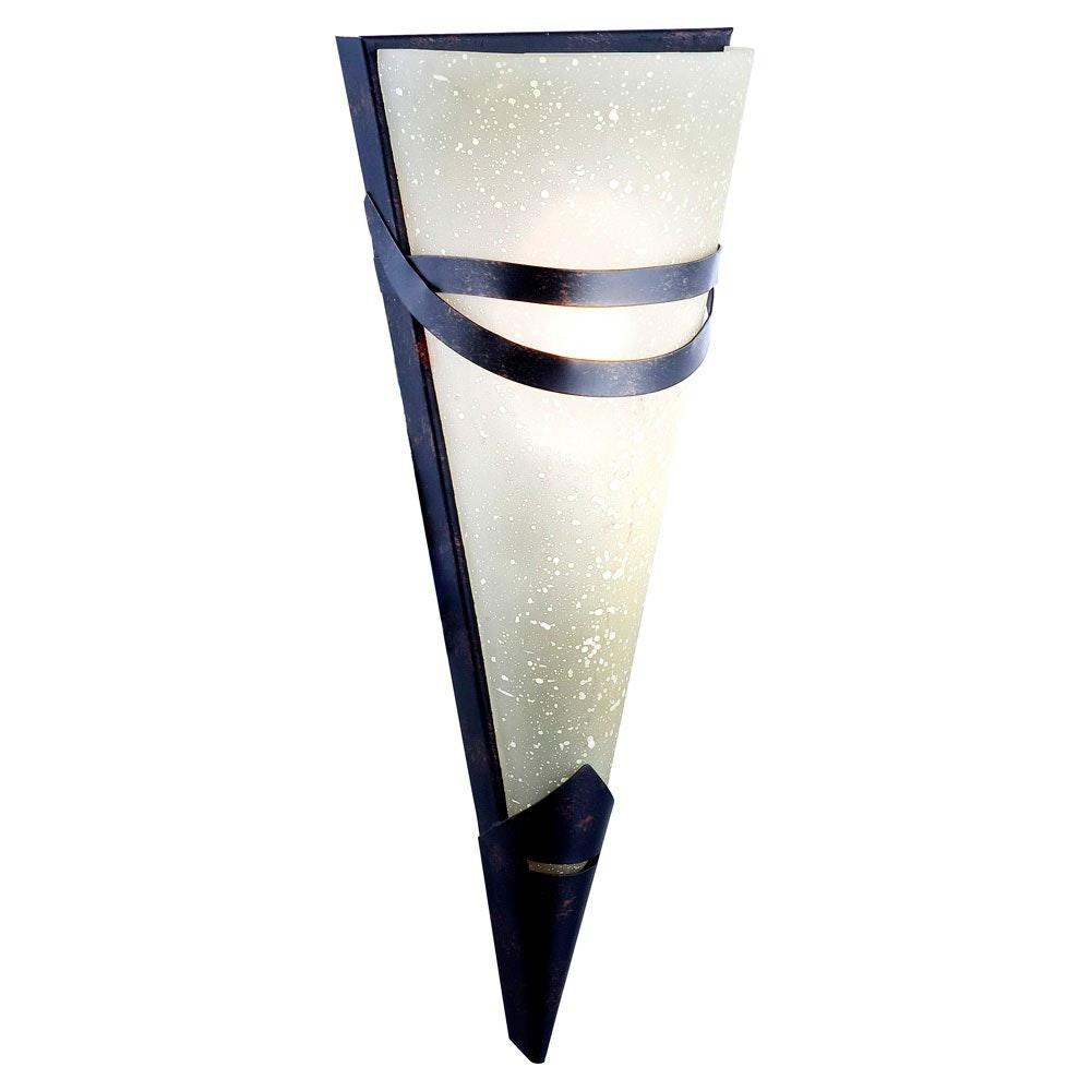 Licht-Trend Glas Wandleuchte Esteros Rostfarben