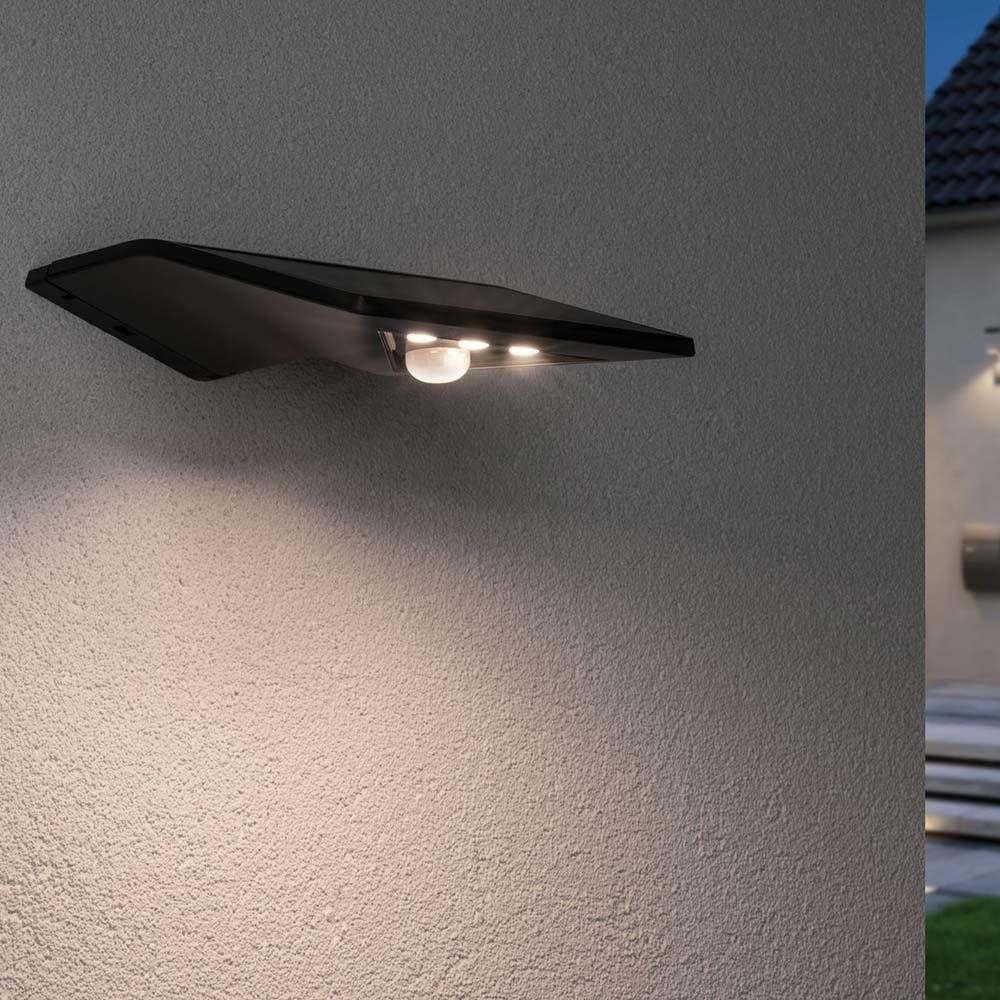 LED Wand-Solarleuchte Yoko mit Sensor IP44 3000K Anthrazit 1