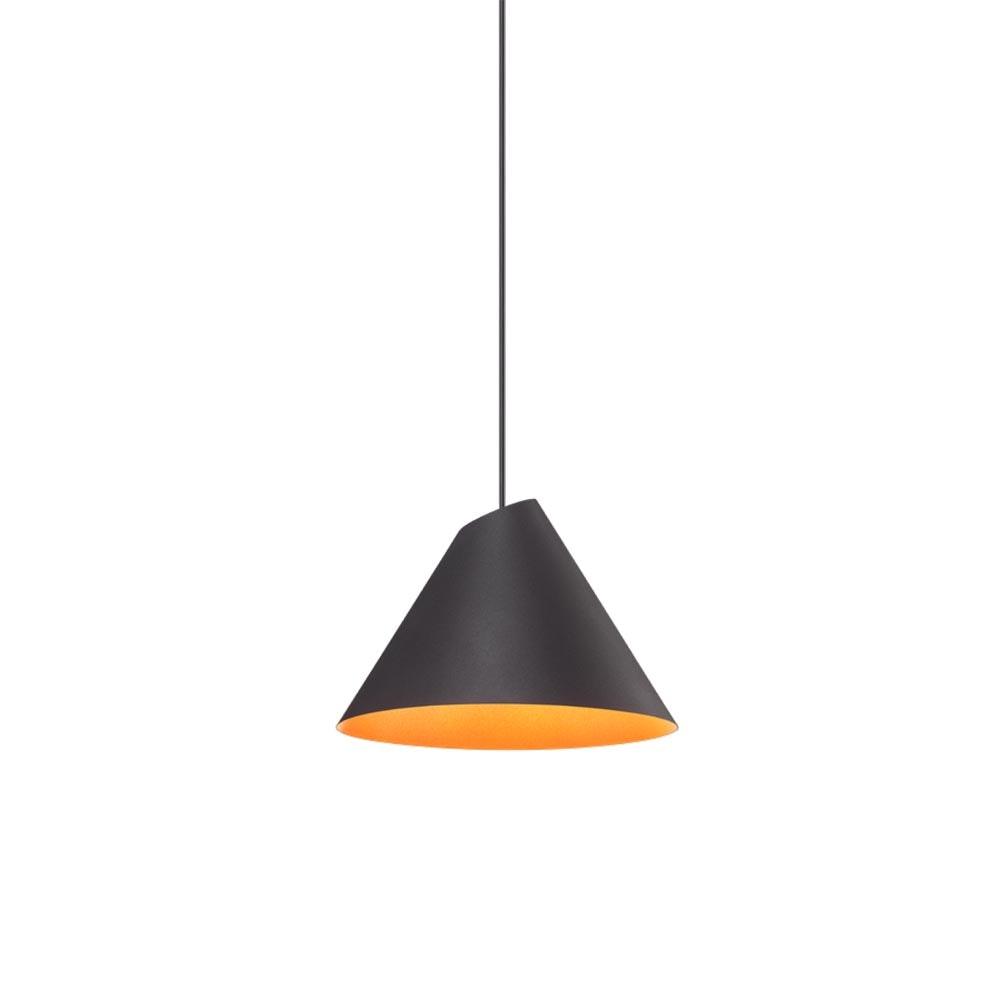 Wever & Ducre LED Esszimmerleuchte Shiek M Schwarz, Kupfer