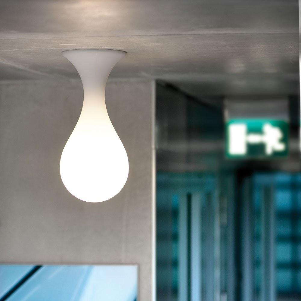 Drop_1 small Deckenleuchte H: 40cm Liquid-Light Weiß 1