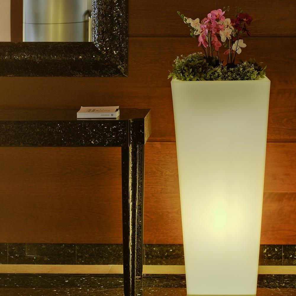 Licht-Trend LED Solar-Topf Melisa mit Akku mit Fernbedienung  5