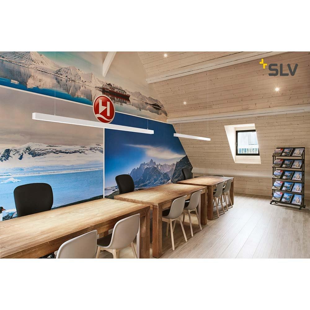SLV Q-Line LED Pendelleuchte 2m Weiß 4000K 2