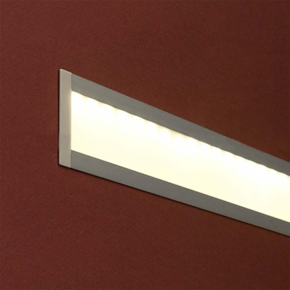 Einbauprofil geschwungen 200cm Weiß ohne Abdeckung für LED-Strips 2