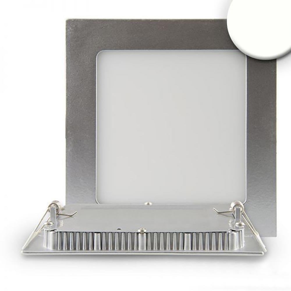 LED Einbaupanel 19 x 19cm flach eckig silber dimmbar 15W neutralweiß 1