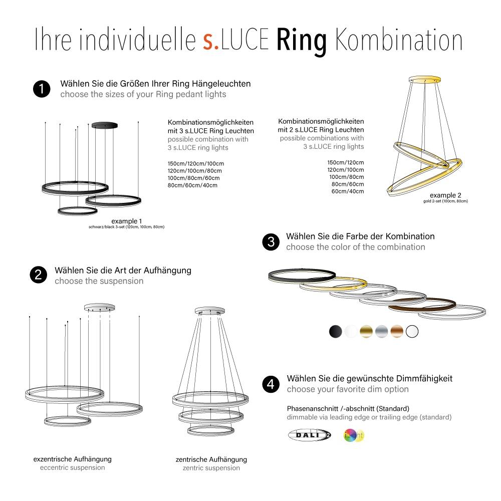 s.LUCE pro Ring-Kombination 2-flg. oder 3-flg. 2