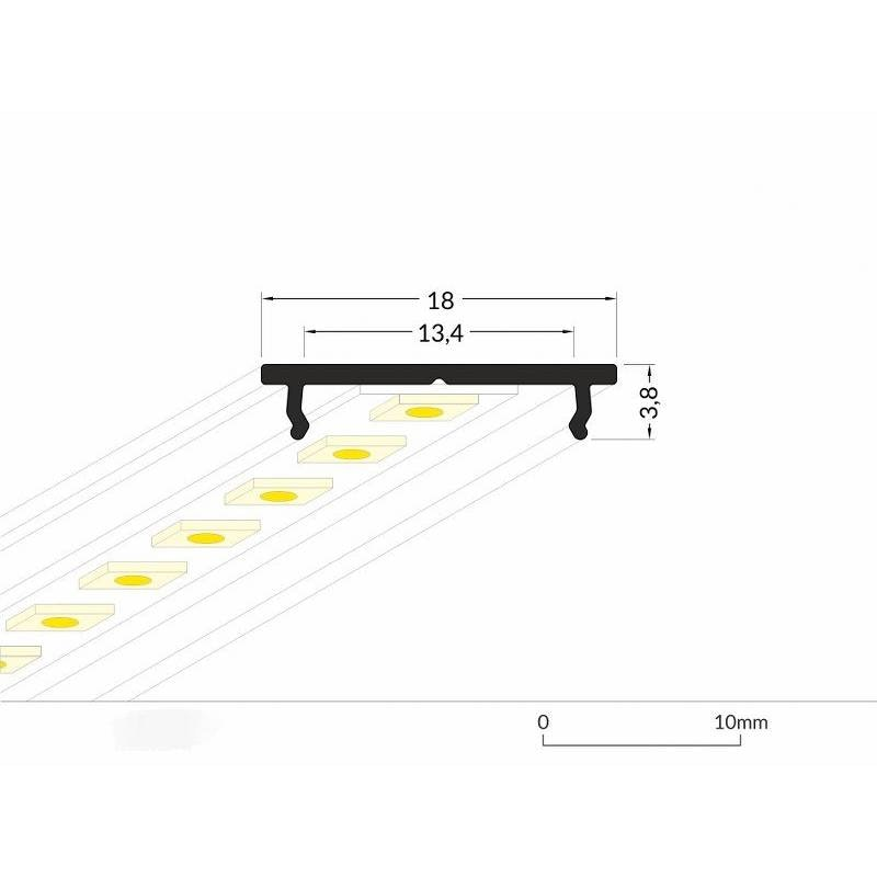 Kühlprofil 200cm Aluminium für LED-Strips 5