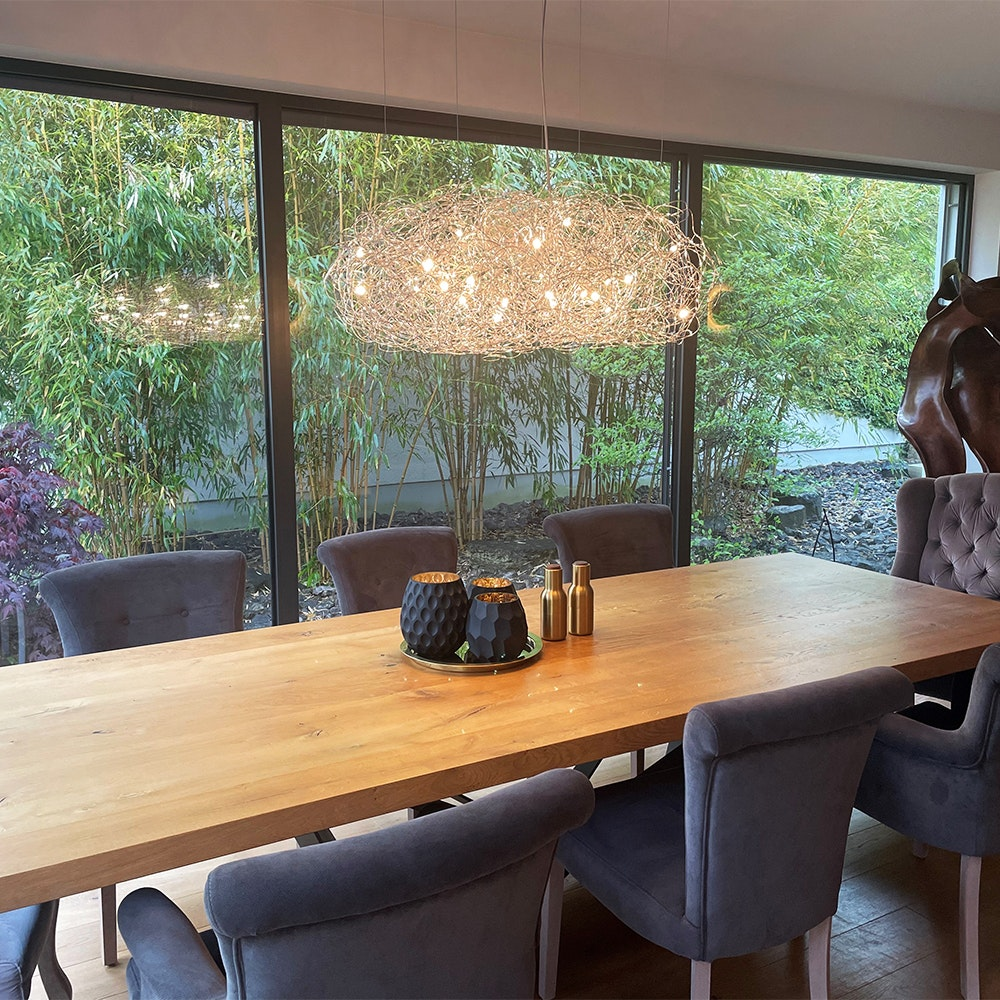 Catellani & Smith Fil de Fer Nuvola LED Hängeleuchte Drahtgeflecht Dimmbar