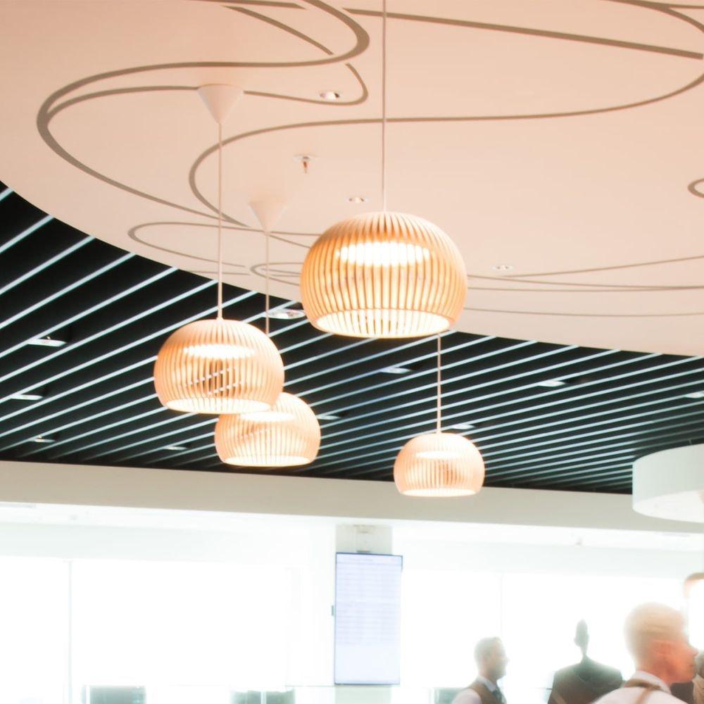 LED Pendelleuchte Atto 5000 aus Holz Ø 34cm 8