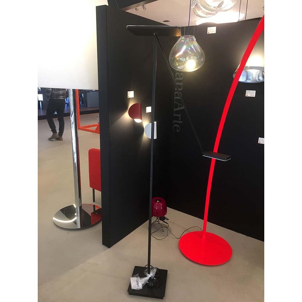 LED-Deckenfluter Plano VL185cm mit 2 Tastdimmer 4300lm Schwarz 2