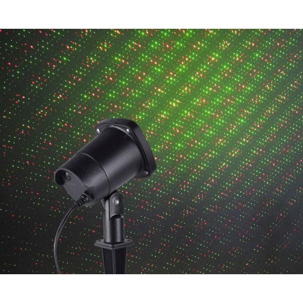 Garten Laser Aussenstrahler mit beweglichen Lichtpunkten Grün & Rot 1