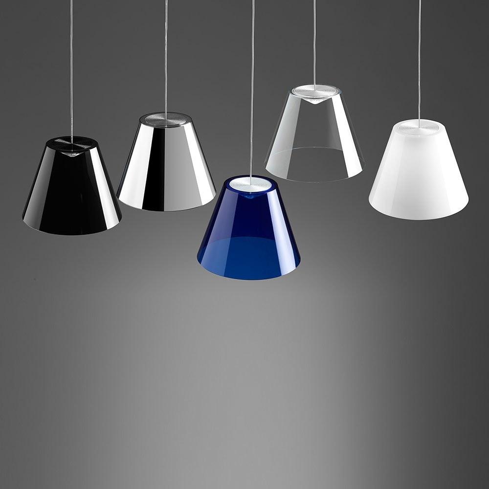 Dina LED-Pendelleuchte Ø 20cm Transparent 2