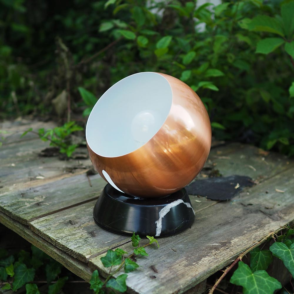 s.LUCE Ball Tischleuchte schwarzer Marmor Ø 20cm