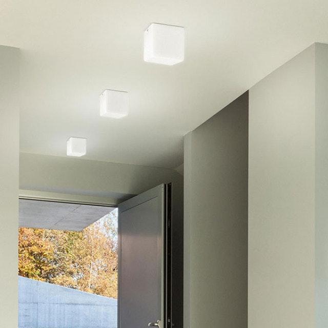 Panzeri Kubik Wand- oder Deckenlampe Glaswürfel thumbnail 4