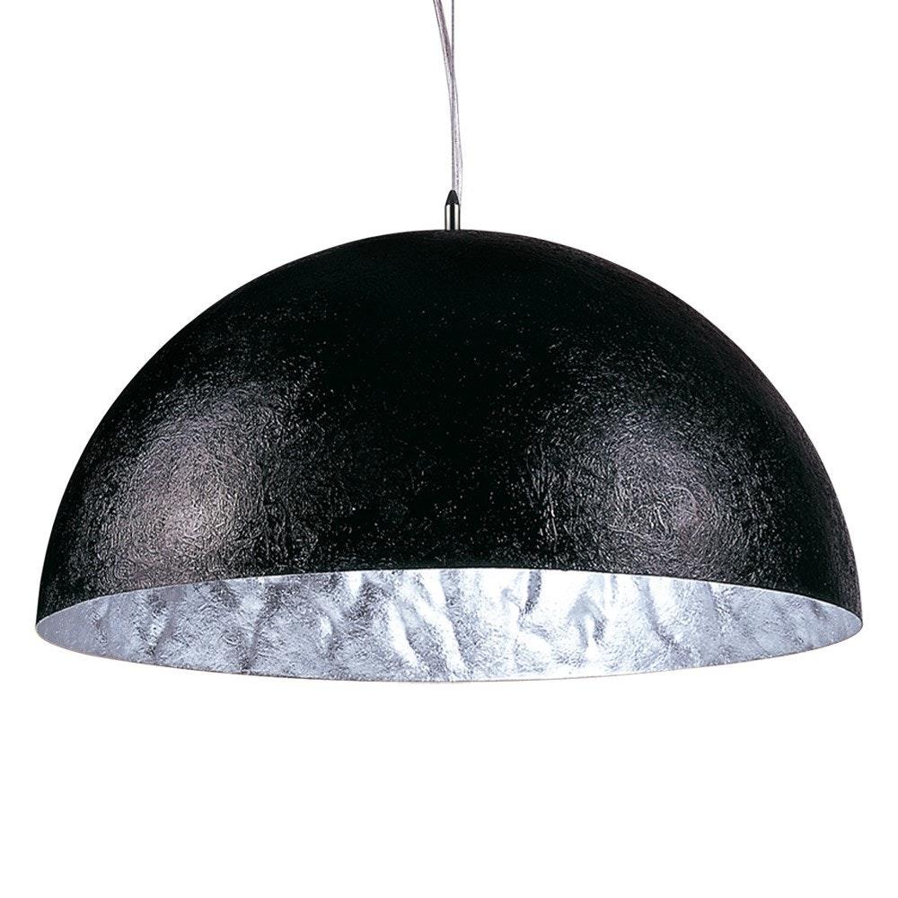 s.LUCE Blister Pendelleuchte 70cm Schwarz, Silberfarben 2