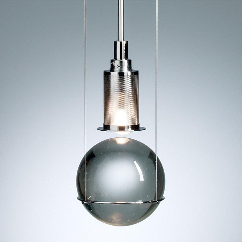 Tecnolumen LED-Hängeleuchte Le tre streghe  Muranoglas Chrom 4
