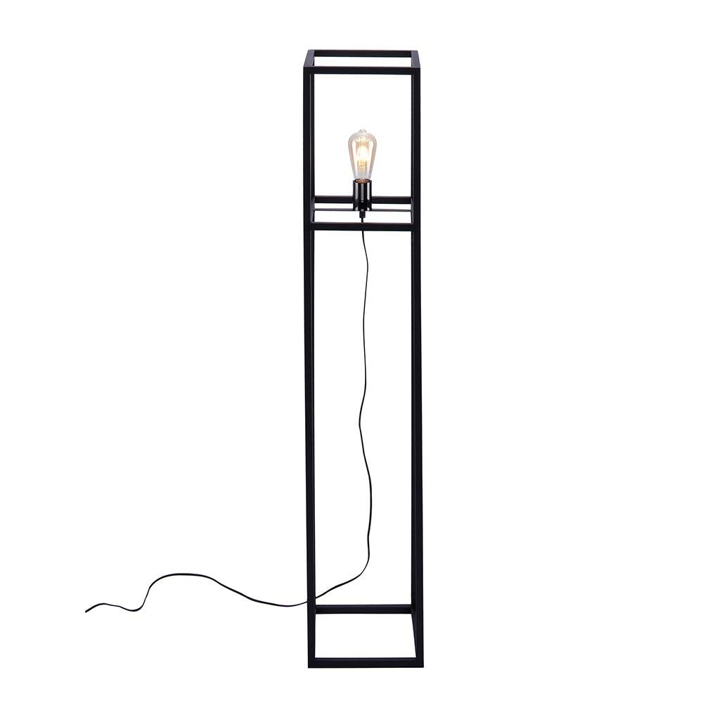 Stehleuchte Fabio 130cm Retro-Stil Schwarz 2