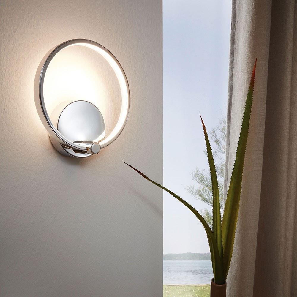 Circuit filigrane LED Wandleuchte 510lm Chrom 1