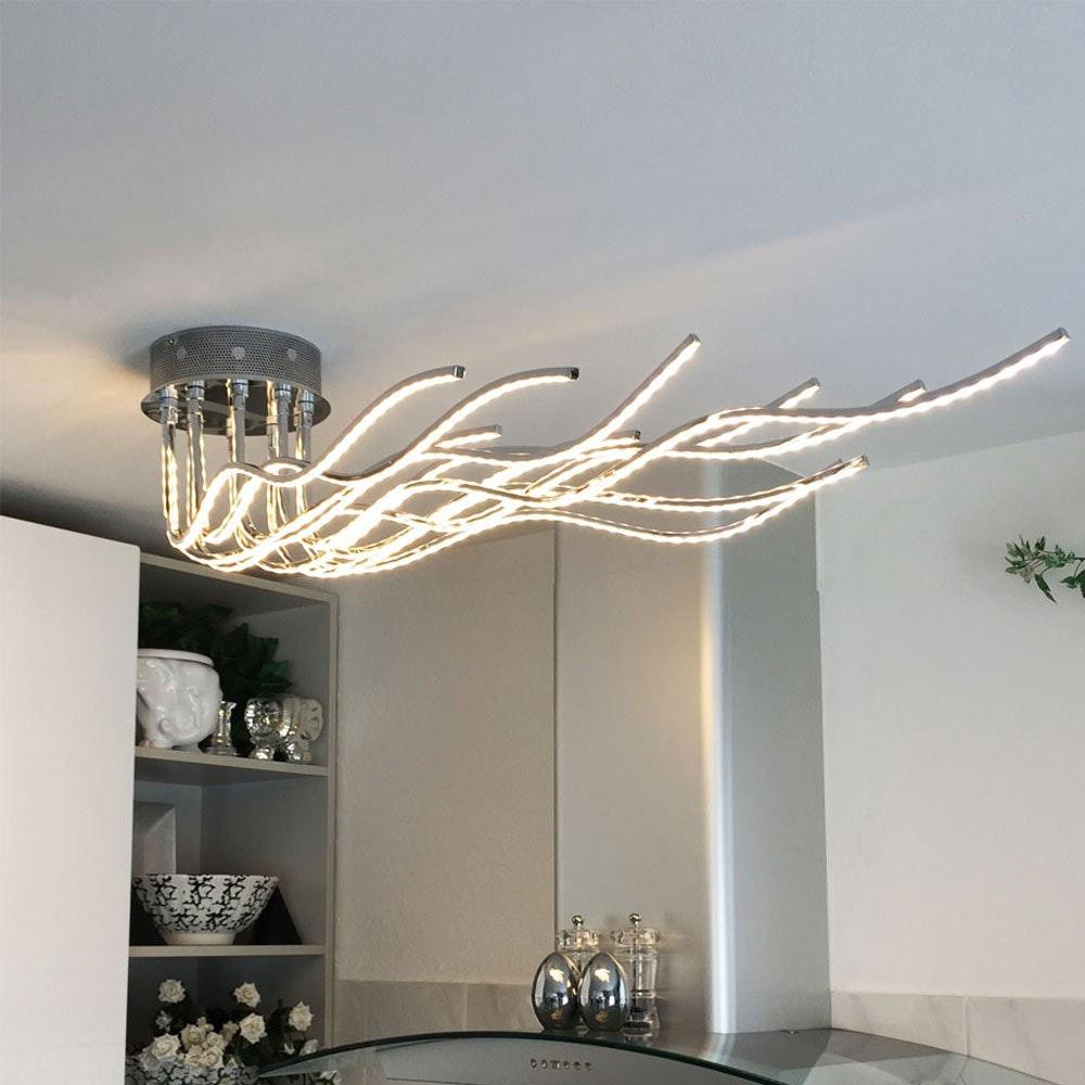 Sculli Design LED-Deckenleuchte mit Metallarmen 1