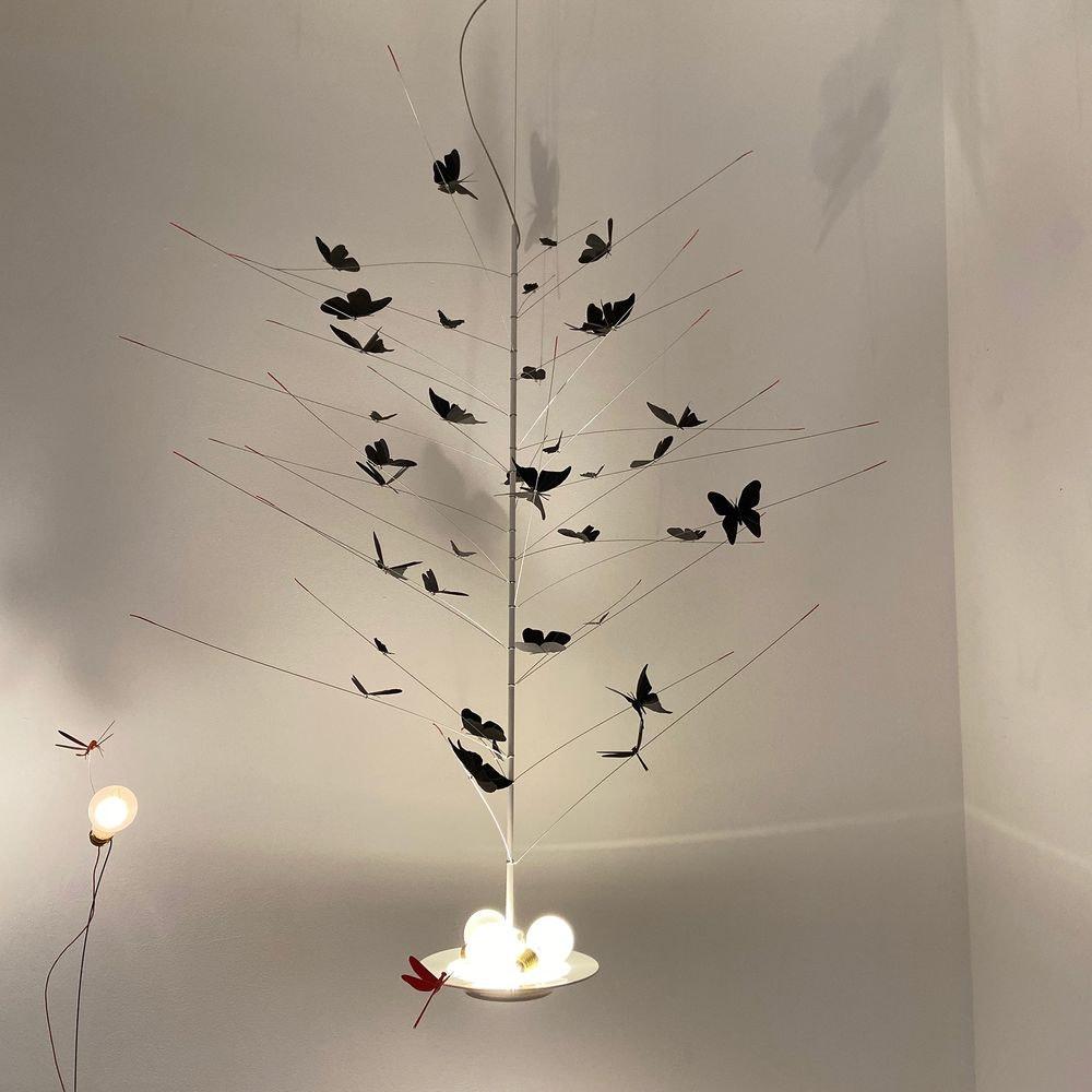 Ingo Maurer LED Pendellampe La Festa delle Farfalle weiss 1