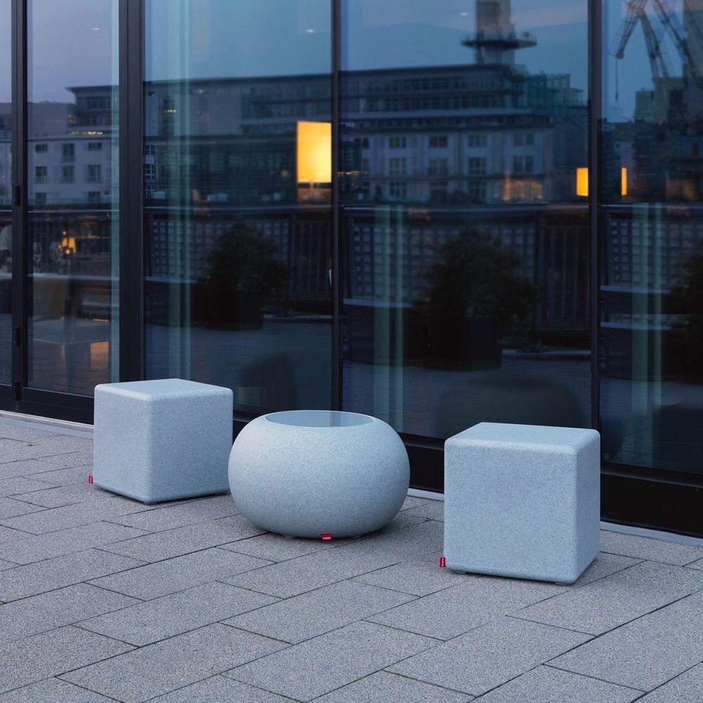 Moree Granit Bubble Outdoor LED Tisch oder Hocker 2