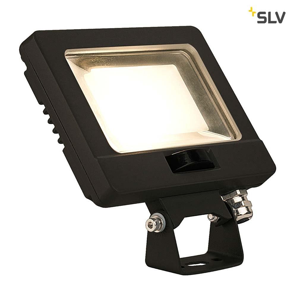 SLV Spoodi Sensor LED Aussen-Wandaufbauleuchte Schwarz 3000K
