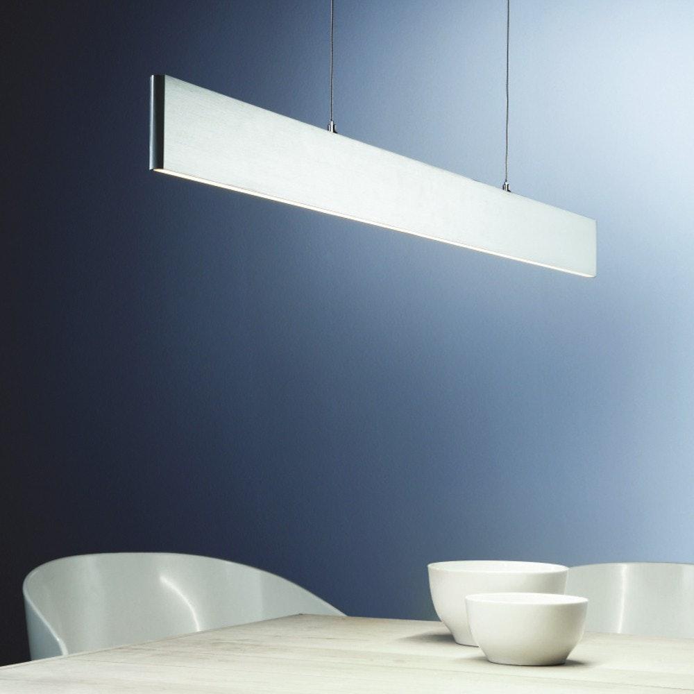 Slim LED-Hängeleuchte 3040lm Up&Down dimmbar Alu-matt 2