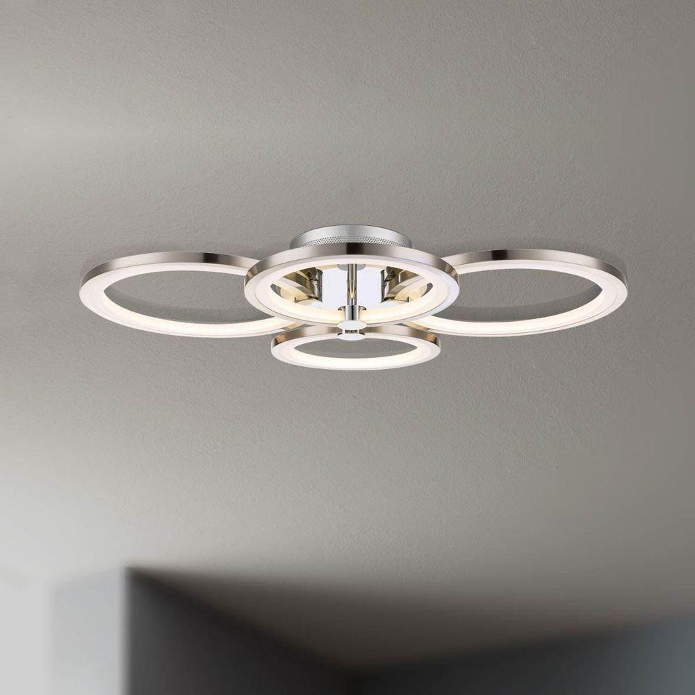 Equal LED Deckenleuchte 4 flg. Nickel matt, Chrom 1