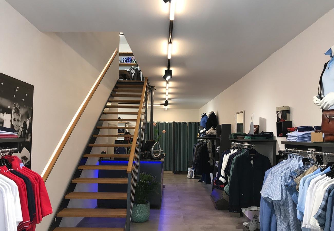Shopbeleuchtung Bekleidung