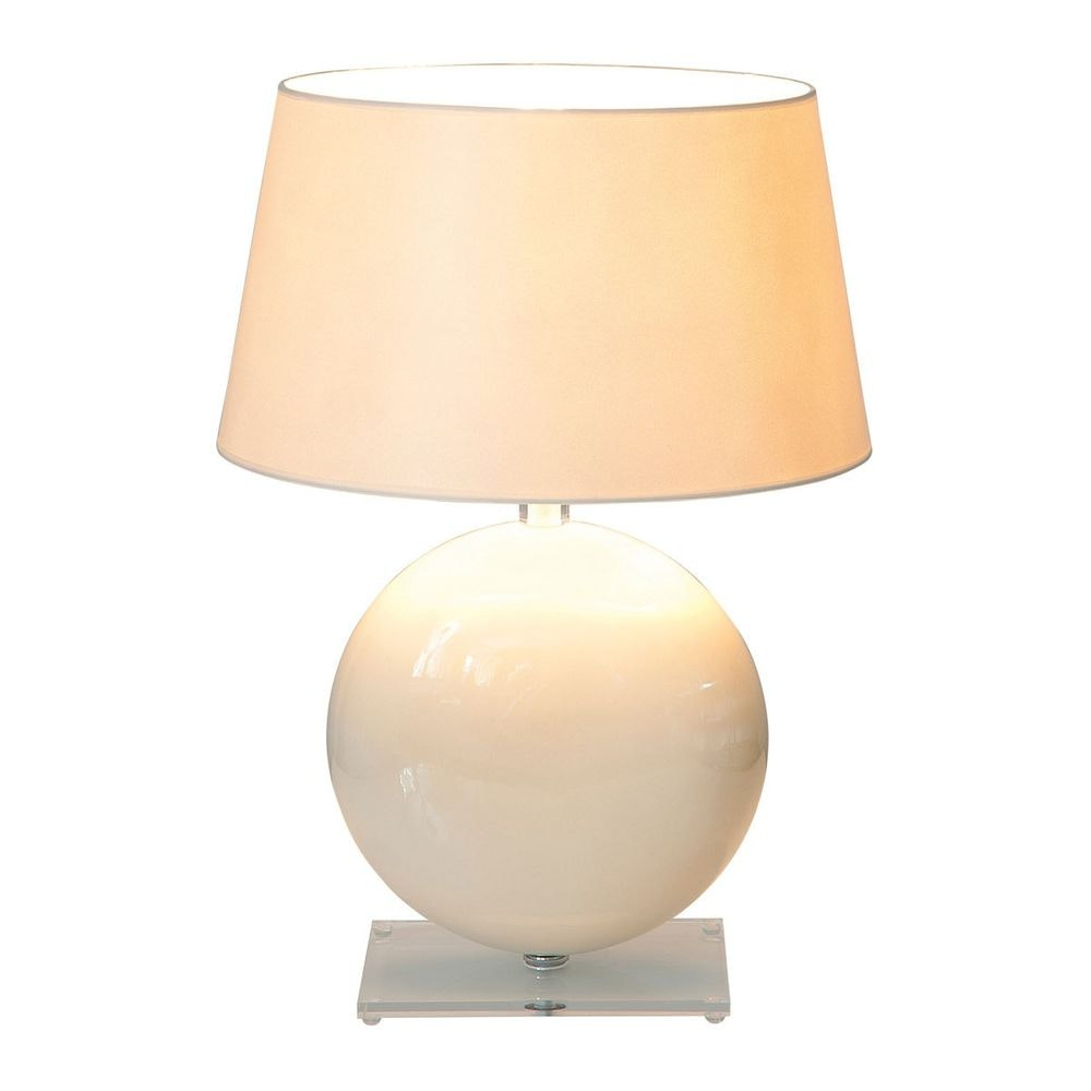 Tischleuchte Billiardo Keramik-Plexiglas Creme-Klar 2