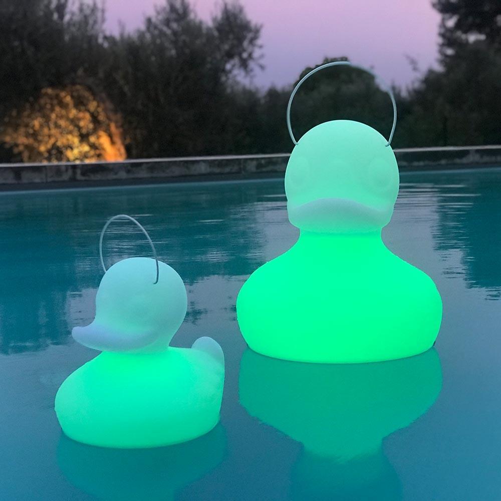 Schwimmfähige Akku-LED-Leuchte Duck-Duck S Weiß 8