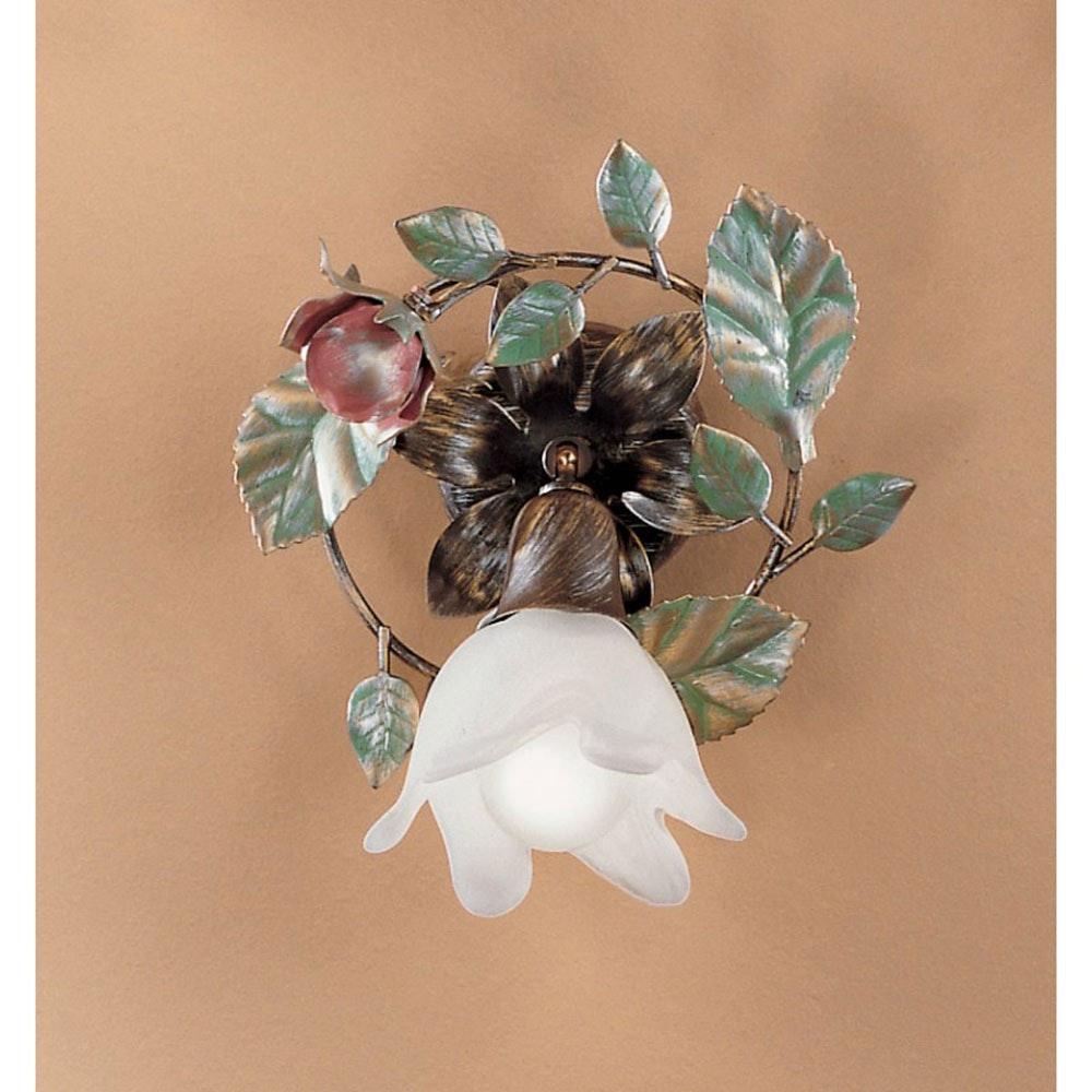Rosaio Wand- & Deckenleuchte Gold-Silber-grün Ø 20cm