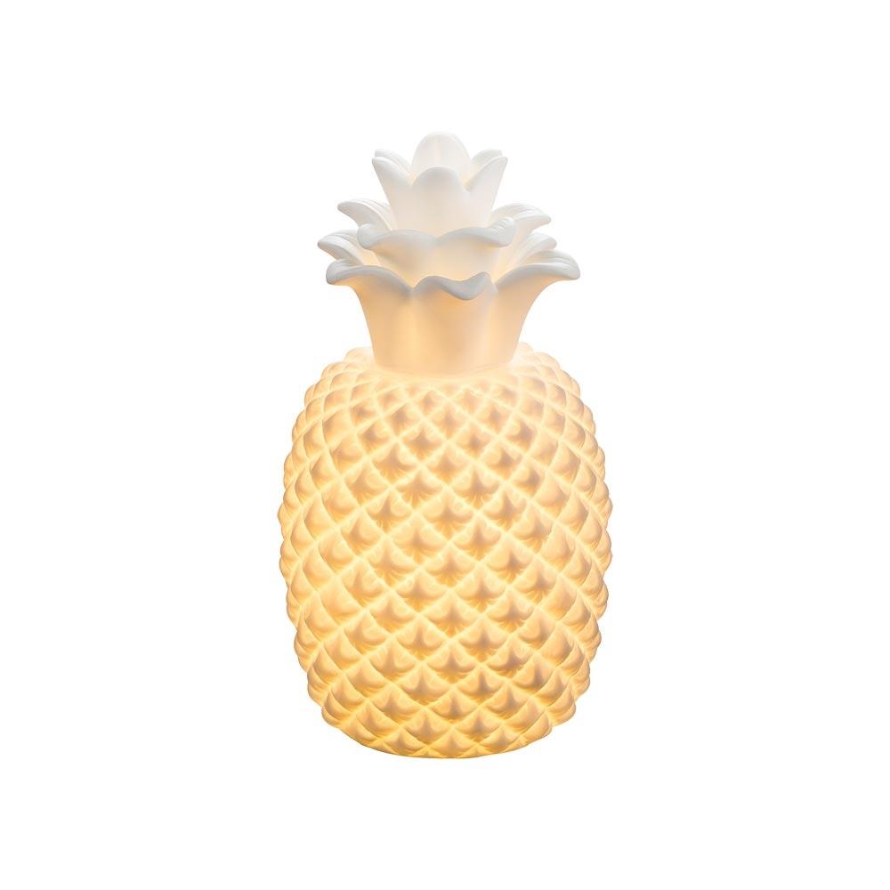 Licht-Trend Deko-Tischlampe Ananas Weiß