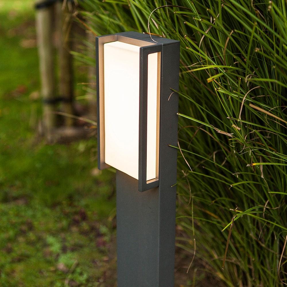 LED Wegeleuchte Qubo IP54 75cm Anthrazit 4