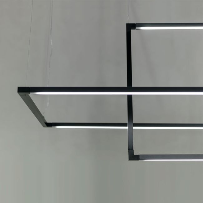 Nemo Spigolo Horizontal LED Hängeleuchte drehbar 1