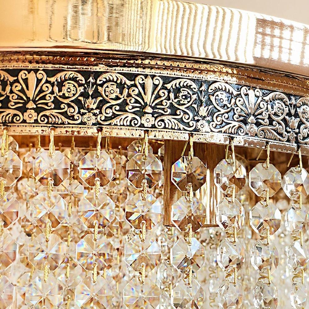 Eleganter Kristall Kronleuchter Wien aus geschliffenen Kristallen 2