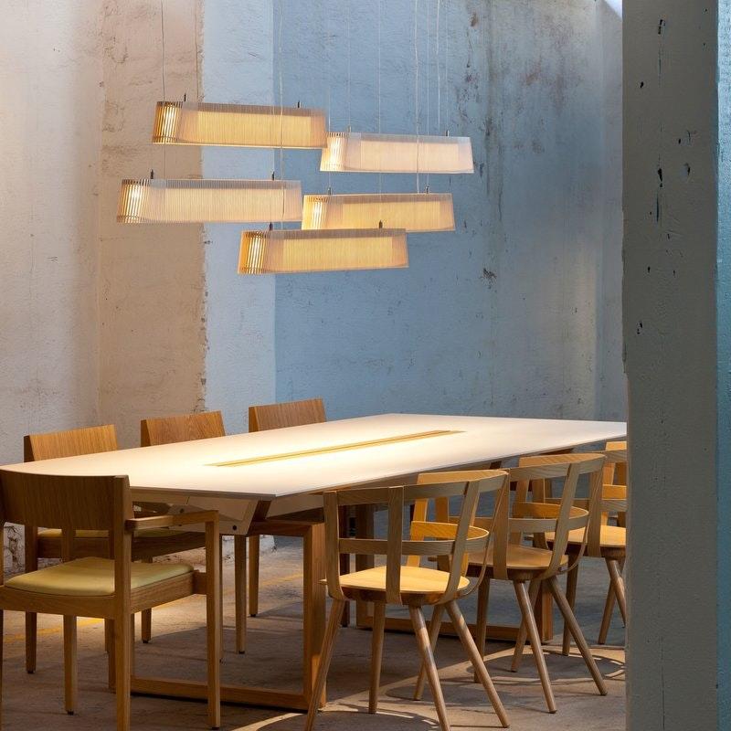 LED Pendelleuchte Owalo 7000 aus Holz 100cm 6